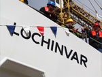MV Lochinvar prepares for launch, 22nd May 2013